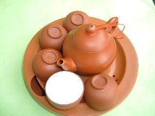 茶器セット 朱泥